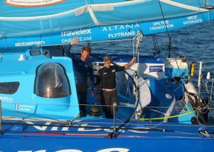Bravo Jean-Pierre Dick et Loick Peyron pour votre victoire dans la Barcelona World Race!