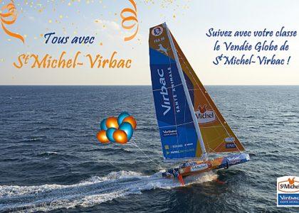 Suivez avec la classe de votre enfant le Vendée Globe de St Michel-Virbac !