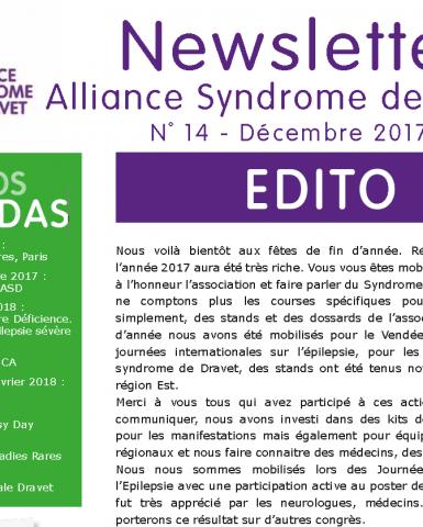 Newsletter n°14 – Décembre 2017