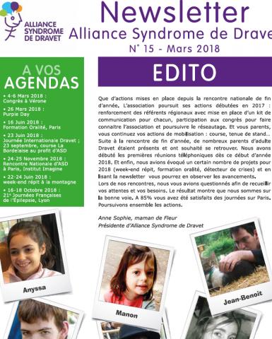 Newsletter – Septembre 2018