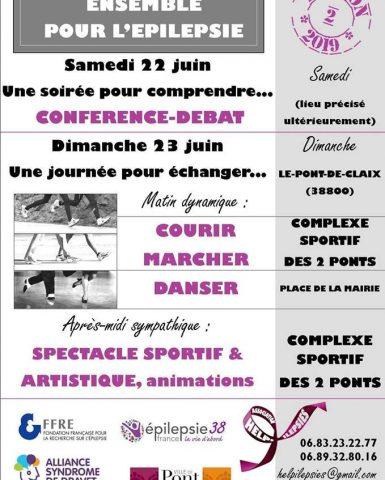 22 et 23 juin 2019 en Auvergne-Rhône-Alpes conférence et journée sur l'Epilepsie et le Syndrome de Dravet