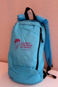 Visuel boutique en ligne - sac à dos - bleu - recto