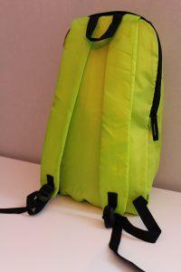 Visuel boutique en ligne - sac à dos - vert anis - verso